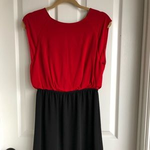 Alice and Olivia red and black dress in size 10